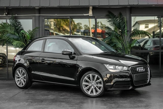 Used Audi A1 8X MY12 Attraction, 2012 Audi A1 8X MY12 Attraction Black 5 Speed Manual Hatchback