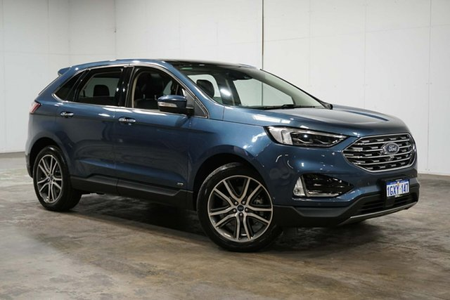 Used Ford Endura CA 2019MY Titanium SelectShift AWD, 2019 Ford Endura CA 2019MY Titanium SelectShift AWD Blue 8 Speed Sports Automatic Wagon