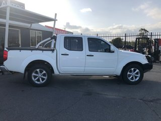 2013 Nissan Navara D40 MY12 ST (4x4) White 5 Speed Automatic Dual Cab Pick-up.