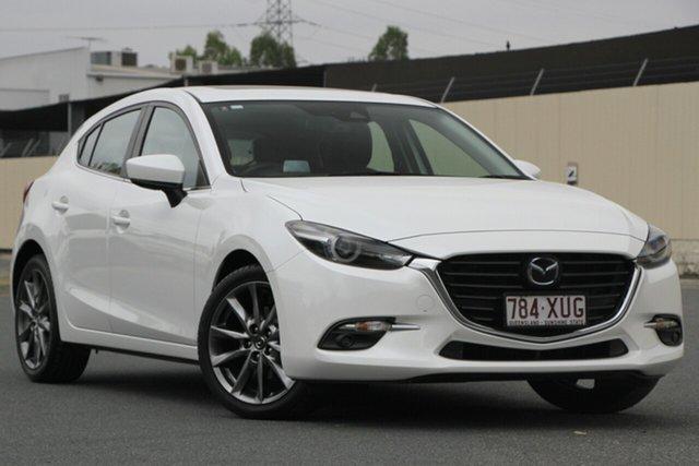Used Mazda 3 BN5438 SP25 SKYACTIV-Drive Astina, 2017 Mazda 3 BN5438 SP25 SKYACTIV-Drive Astina Snowflake White 6 Speed Sports Automatic Hatchback