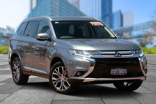 Used Mitsubishi Outlander ZK MY16 Exceed 4WD, 2015 Mitsubishi Outlander ZK MY16 Exceed 4WD Grey 6 Speed Constant Variable Wagon