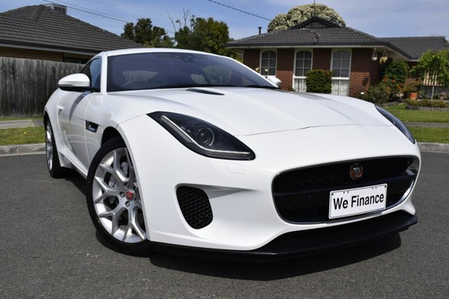 Used Jaguar F-TYPE X152 MY20 221kW Quickshift RWD, 2019 Jaguar F-TYPE X152 MY20 221kW Quickshift RWD White 8 Speed Sports Automatic Coupe