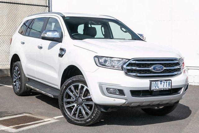 Used Ford Everest UA II 2019.00MY Titanium 4WD, 2018 Ford Everest UA II 2019.00MY Titanium 4WD White 10 Speed Sports Automatic Wagon