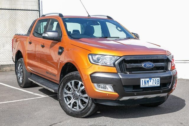 Used Ford Ranger PX MkII 2018.00MY Wildtrak Double Cab, 2018 Ford Ranger PX MkII 2018.00MY Wildtrak Double Cab Orange 6 Speed Sports Automatic Utility