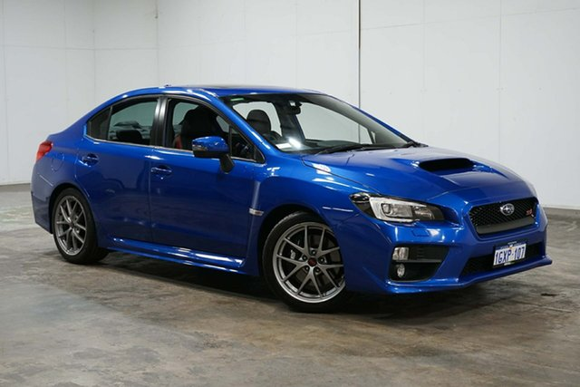 Used Subaru WRX V1 MY15 STI AWD Premium, 2014 Subaru WRX V1 MY15 STI AWD Premium Galaxy Blue 6 Speed Manual Sedan