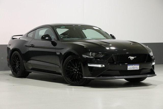 Used Ford Mustang FN Fastback GT 5.0 V8, 2018 Ford Mustang FN Fastback GT 5.0 V8 Black 6 Speed Manual Coupe