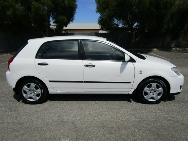 Used Toyota Corolla ZZE122R Ascent, 2004 Toyota Corolla ZZE122R Ascent 5 Speed Manual Sedan