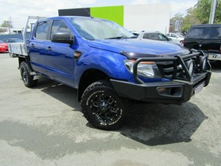 2012 Ford Ranger PX XL 3.2 (4x4) Blue 6 Speed Manual Dual Cab Chassis.