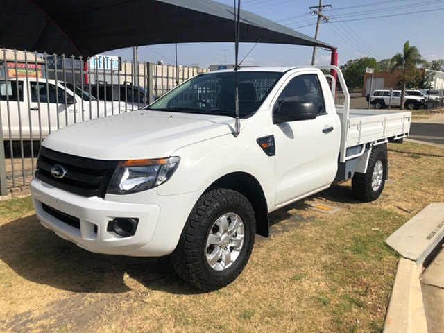 Used Ford Ranger PX XL 3.2 (4x4), 2014 Ford Ranger PX XL 3.2 (4x4) White 6 Speed Automatic Cab Chassis