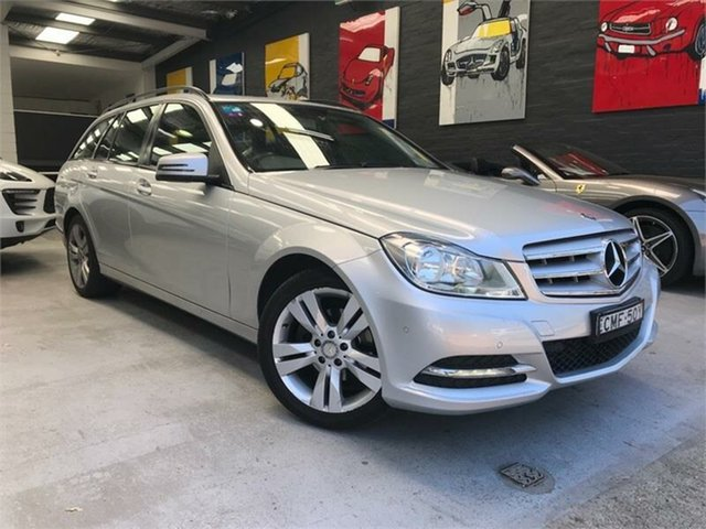 Used Mercedes-Benz C-Class W204 , 2012 Mercedes-Benz C-Class W204 C200 CDI BlueEFFICIENCY Silver Sports Automatic Wagon