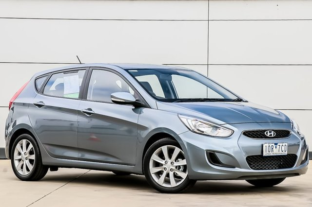 Used Hyundai Accent RB6 MY19 Sport, 2018 Hyundai Accent RB6 MY19 Sport Lake Silver 6 Speed Sports Automatic Hatchback