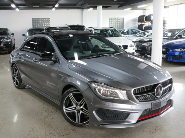 Used Mercedes-Benz CLA-Class C117 805+055MY CLA250 DCT 4MATIC Sport, 2014 Mercedes-Benz CLA-Class C117 805+055MY CLA250 DCT 4MATIC Sport Mountain Grey 7 Speed