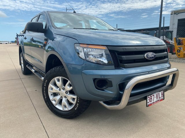 Used Ford Ranger PX XL Double Cab, 2014 Ford Ranger PX XL Double Cab Blue 6 Speed Sports Automatic Cab Chassis