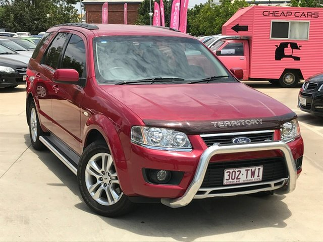 Used Ford Territory SY MkII TS RWD, 2010 Ford Territory SY MkII TS RWD Red 4 Speed Sports Automatic Wagon
