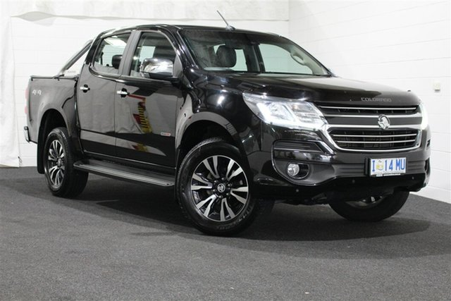 Used Holden Colorado RG MY17 LTZ Pickup Crew Cab, 2017 Holden Colorado RG MY17 LTZ Pickup Crew Cab Mineral Black 6 Speed Manual Utility
