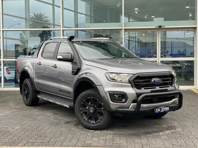 Demo Ford Ranger PX MkIII 2019.75MY Wildtrak Pick-up Double Cab, 2019 Ford Ranger PX MkIII 2019.75MY Wildtrak Pick-up Double Cab Aluminium 10 Speed Sports Automatic