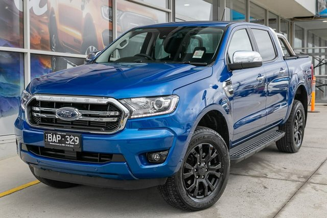 Demo Ford Ranger PX MkIII 2019.75MY XLT Pick-up Double Cab, 2019 Ford Ranger PX MkIII 2019.75MY XLT Pick-up Double Cab Blue 6 Speed Sports Automatic Utility