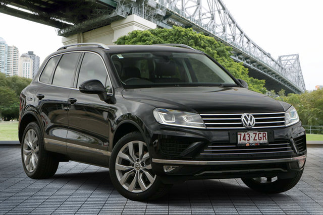 Used Volkswagen Touareg 7P MY18 V6 TDI Tiptronic 4MOTION, 2017 Volkswagen Touareg 7P MY18 V6 TDI Tiptronic 4MOTION Black 8 Speed Sports Automatic Wagon