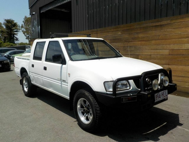 Used Holden Rodeo TF MY02 LX Crew Cab, 2002 Holden Rodeo TF MY02 LX Crew Cab White 5 Speed Manual Utility