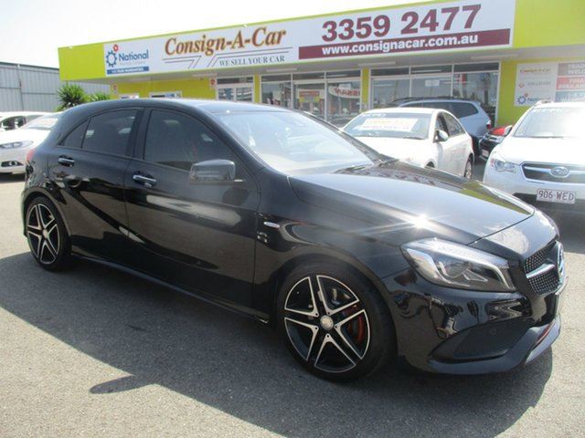 Used Mercedes-Benz A-Class W176 807MY A250 D-CT 4MATIC Sport, 2016 Mercedes-Benz A-Class W176 807MY A250 D-CT 4MATIC Sport Black 7 Speed