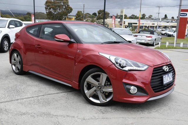 Used Hyundai Veloster FS2 SR Coupe Turbo, 2013 Hyundai Veloster FS2 SR Coupe Turbo Red/Black 6 Speed Sports Automatic Hatchback