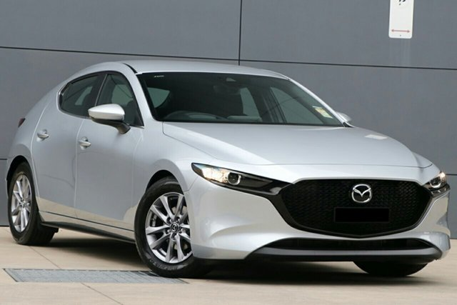 New Mazda 3 BP2H7A G20 SKYACTIV-Drive Pure Hillcrest, 2020 Mazda 3 BP2H7A G20 SKYACTIV-Drive Pure Sonic Silver 6 Speed Sports Automatic Hatchback