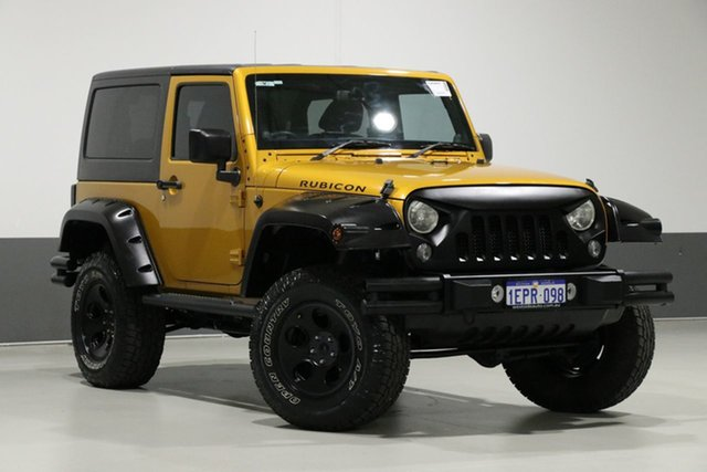 Used Jeep Wrangler JK MY15 Rubicon (4x4), 2014 Jeep Wrangler JK MY15 Rubicon (4x4) Gold 6 Speed Manual Softtop