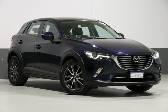 Used Mazda CX-3 DK S Touring (AWD), 2016 Mazda CX-3 DK S Touring (AWD) Blue 6 Speed Automatic Wagon