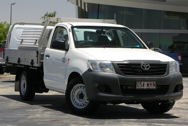 Used Toyota Hilux TGN16R MY12 Workmate 4x2, 2012 Toyota Hilux TGN16R MY12 Workmate 4x2 White 4 Speed Automatic Cab Chassis
