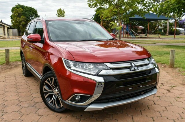Used Mitsubishi Outlander ZK MY16 Exceed 4WD, 2015 Mitsubishi Outlander ZK MY16 Exceed 4WD Red 6 Speed Sports Automatic Wagon
