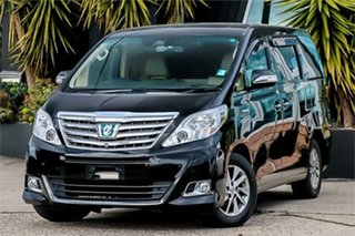 2012 Toyota Alphard ATH20 Hybrid Black Continuous Variable Wagon.