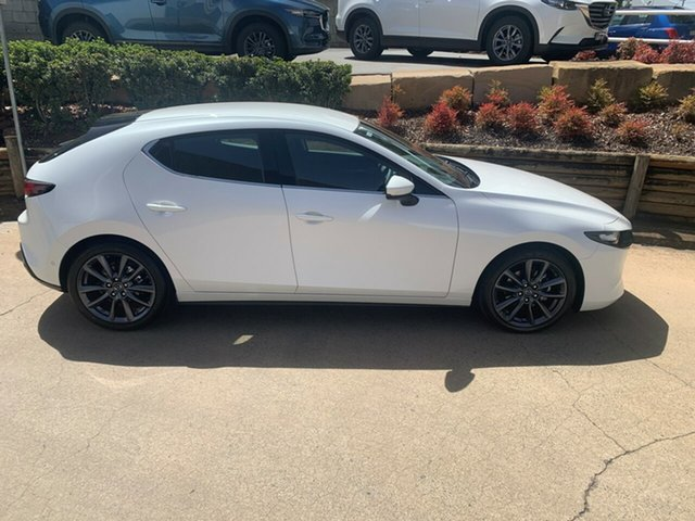 Demo Mazda 3 BP2HLA G25 SKYACTIV-Drive Evolve, 2019 Mazda 3 BP2HLA G25 SKYACTIV-Drive Evolve Snowflake White Pearl 6 Speed Sports Automatic