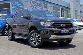 2019 Ford Ranger PX MkIII 2019.00MY Wildtrak Pick-up Double Cab Black 10 Speed Sports Automatic.