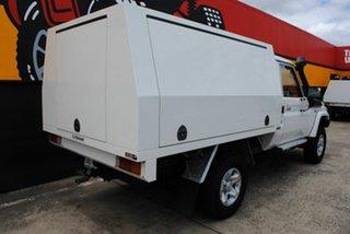 2008 Toyota Landcruiser VDJ79R GXL White 5 Speed Manual Cab Chassis.