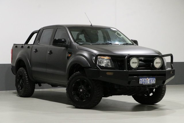 Used Ford Ranger PX XL 3.2 (4x4), 2012 Ford Ranger PX XL 3.2 (4x4) Black 6 Speed Manual Dual Cab Utility