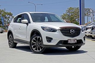 2015 Mazda CX-5 KE1032 Grand Touring SKYACTIV-Drive AWD White 6 Speed Sports Automatic Wagon.