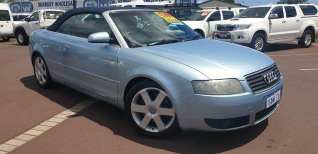 Used Audi A4 B6 Multitronic, 2003 Audi A4 B6 Multitronic Blue 1 Speed Constant Variable Cabriolet