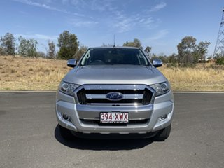 2017 Ford Ranger PX MkII 2018.00MY XLT Double Cab Silver 6 Speed Sports Automatic Utility.