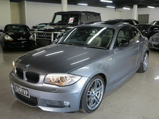 2013 BMW 1 Series E82 LCI MY1112 120i Steptronic Space Grey 6 Speed Sports Automatic Coupe.