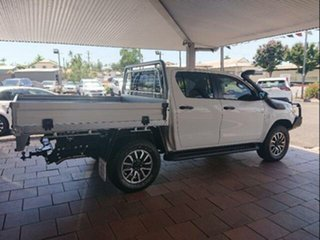2019 Toyota Hilux GUN126R SR Double Cab Glacier White 6 Speed Sports Automatic Cab Chassis.