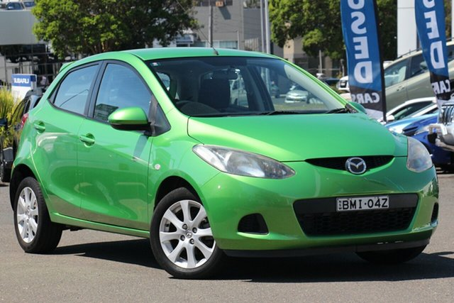 Used Mazda 2 DE10Y1 Maxx, 2009 Mazda 2 DE10Y1 Maxx Green 4 Speed Automatic Hatchback