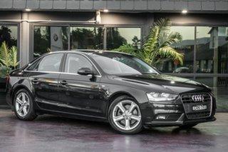 2012 Audi A4 B8 8K MY13 Multitronic Black 8 Speed Constant Variable Sedan.