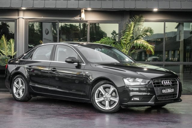 Used Audi A4 B8 8K MY13 Multitronic, 2012 Audi A4 B8 8K MY13 Multitronic Black 8 Speed Constant Variable Sedan