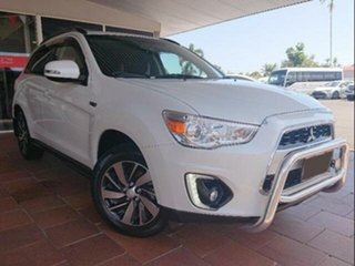 2014 Mitsubishi ASX XB MY15 LS (2WD) White Continuous Variable Wagon.