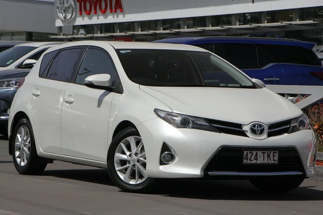 Used Toyota Corolla ZRE182R Ascent Sport S-CVT, 2013 Toyota Corolla ZRE182R Ascent Sport S-CVT Crystal Pearl 7 Speed Constant Variable Hatchback