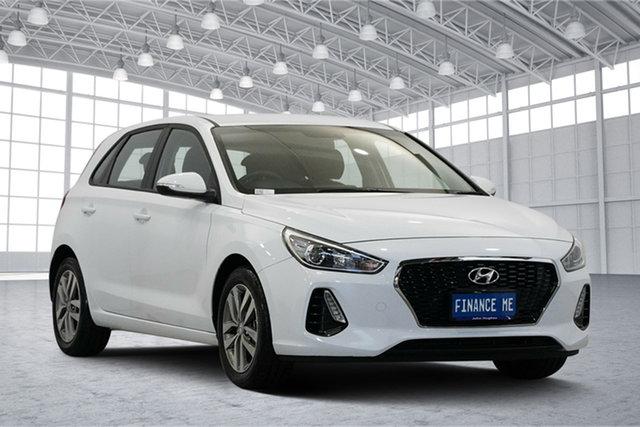Used Hyundai i30 PD2 MY19 Active, 2019 Hyundai i30 PD2 MY19 Active Polar White 6 Speed Sports Automatic Hatchback