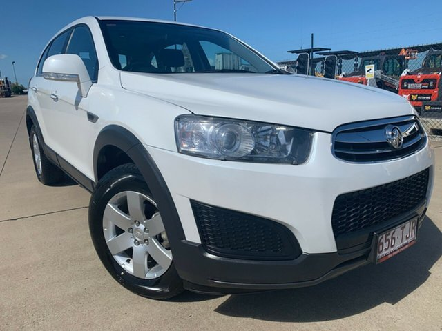 Used Holden Captiva CG MY15 7 LS, 2014 Holden Captiva CG MY15 7 LS Snowflake Pearl/jet 6 Speed Sports Automatic Wagon