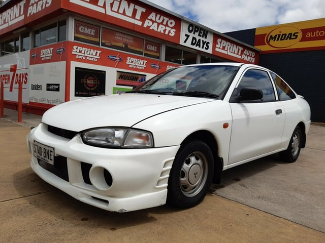 Used Mitsubishi Lancer CE GLi, 1997 Mitsubishi Lancer CE GLi White 4 Speed Automatic Coupe