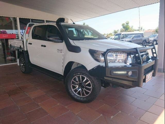 Demo Toyota Hilux GUN126R SR Double Cab, 2019 Toyota Hilux GUN126R SR Double Cab Glacier White 6 Speed Sports Automatic Cab Chassis
