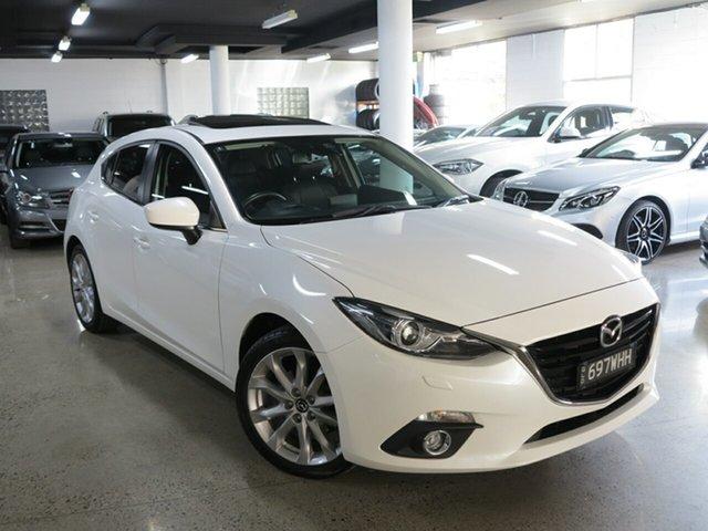 Used Mazda 3 BM5438 SP25 SKYACTIV-Drive GT, 2016 Mazda 3 BM5438 SP25 SKYACTIV-Drive GT White 6 Speed Sports Automatic Hatchback